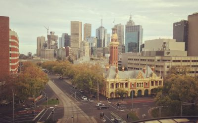 Melbourne skyline from St Vincent's Private