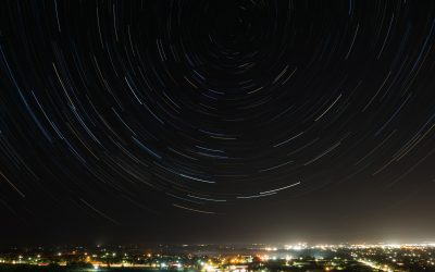 World Turning Star Trails