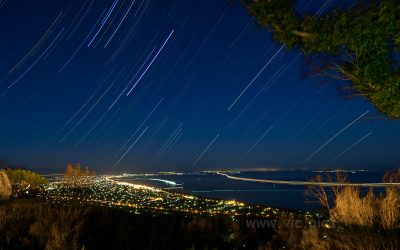Peninsula star trails from Arthurs Seat