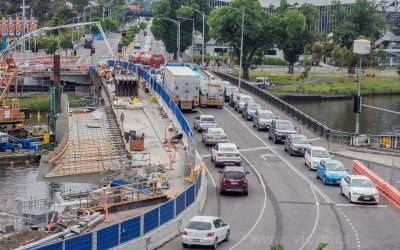 Widening works on the Swan Street Bridge